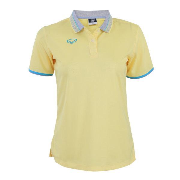 เสื้อโปโลหญิงสีเหลืองแกรนด์สปอร์ต รหัส :012768