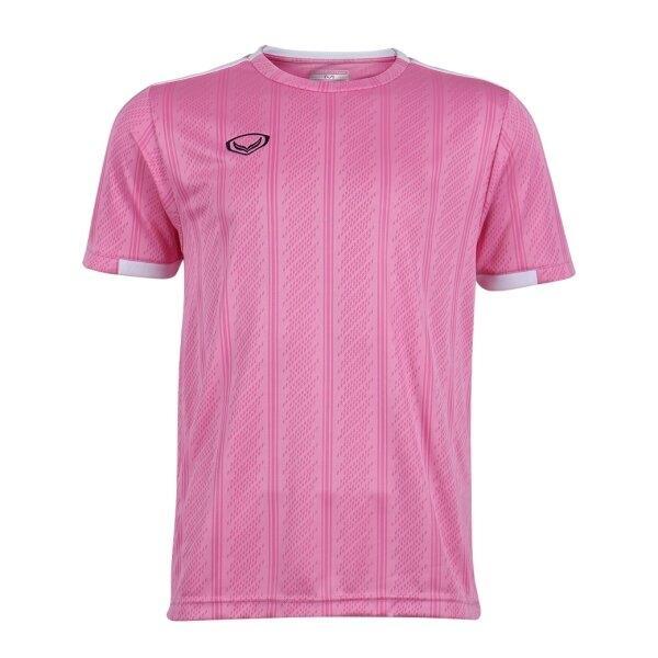 เสื้อกีฬาฟุตบอลทอลาย แกรนด์สปอร์ต รหัส : 011556 (สีชมพู)