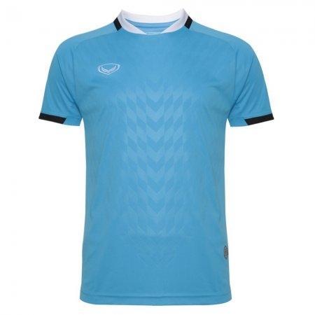 เสื้อฟุตบอล แกรนด์สปอร์ต(Emboss) สีฟ้า รหัส:011446