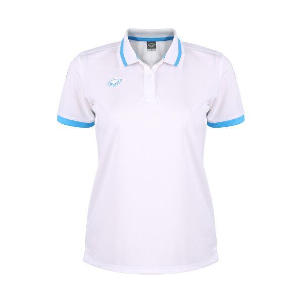 เสื้อโปโลหญิงแกรนด์สปอร์ต รหัสสินค้า : 012785 (สีขาว)