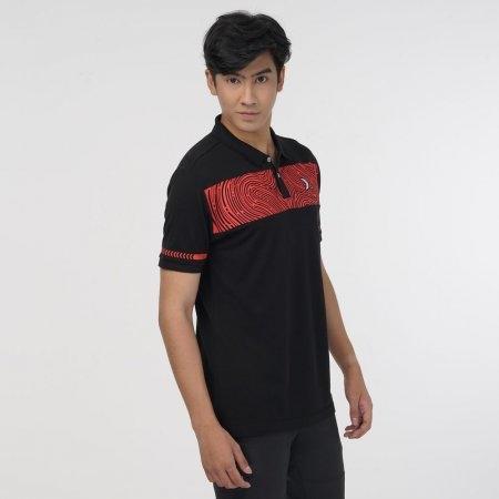 เสื้อคอปกพิมพ์ลาย (Filagen) รหัสสินค้า : 023167 (สีดำ)