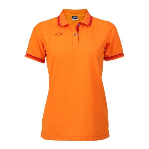 เสื้อโปโลหญิงแกรนด์สปอร์ต รหัสสินค้า : 012780 (สีส้ม)