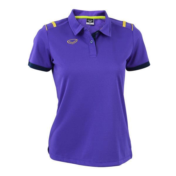 เสื้อโปโลหญิงสีม่วง แกรนด์สปอร์ต รหัส :012767