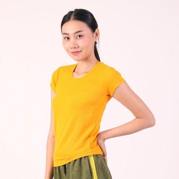 แกรนด์สปอร์ต เสื้อออกกำลังกายผู้หญิง (สีเหลือง) รหัสสินค้า : 028790