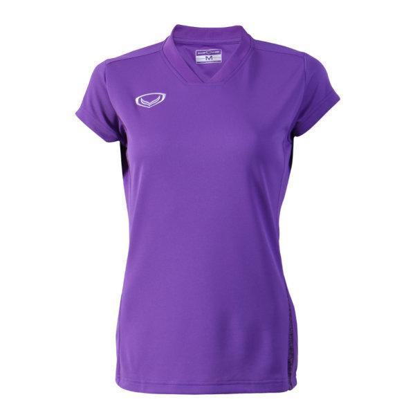 เสื้อกีฬาตัดต่อหญิง แกรนด์สปอร์ต(สีม่วง) รหัส:014270