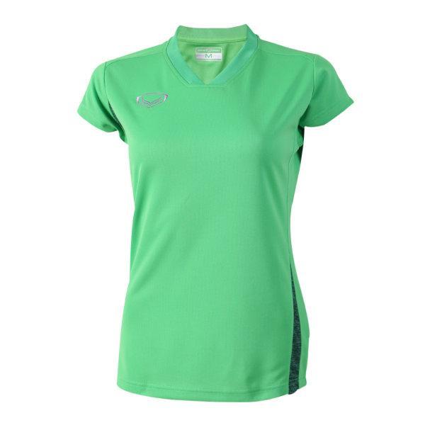 เสื้อกีฬาตัดต่อหญิง แกรนด์สปอร์ต(สีเขียว) รหัส:014270