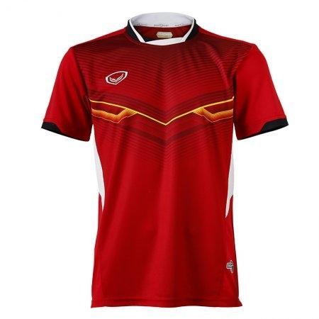 เสิ้อกีฬาแกรนด์สปอร์ตพิมพ์ลาย รหัส: 072021 (สีแดง)
