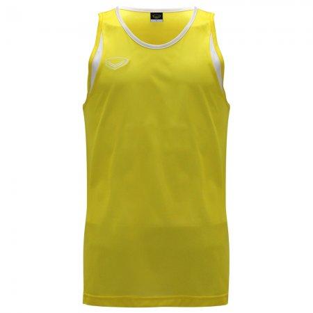 เสื้อวิ่งชายตัดต่อด้านหน้า(สีเหลือง) รหัส : 017105