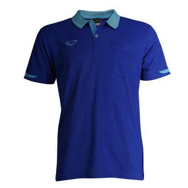 เสื้อโปโลชายสีม่วงแกรนด์สปอร์ต รหัส :012553 (สีน้ำเงิน)