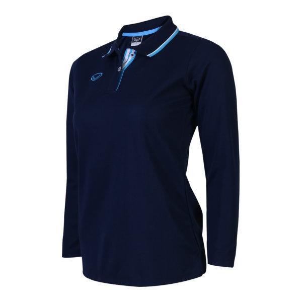 เสื้อโปโลหญิงแขนยาวแกรนด์สปอร์ต (สีกรม) รหัส:012779