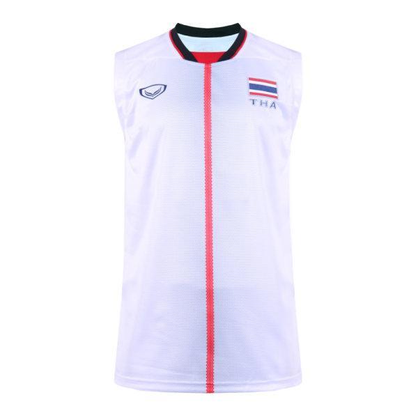 เสื้อวอลเลย์บอลชายซีเกมส์2019(สีขาว)รหัส:014282