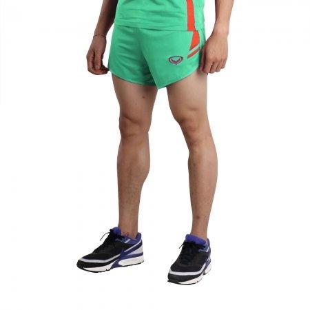 กางเกงวิ่งตัดต่อ (สีเขียว) รหัส :007129