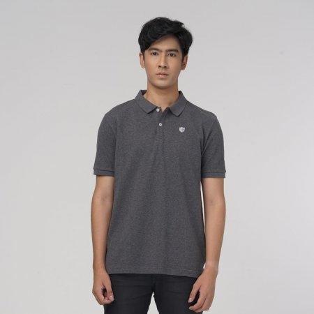 เสื้อโปโลแกรนด์สปอร์ตสีล้วน (สีเทา) รหัส :023162