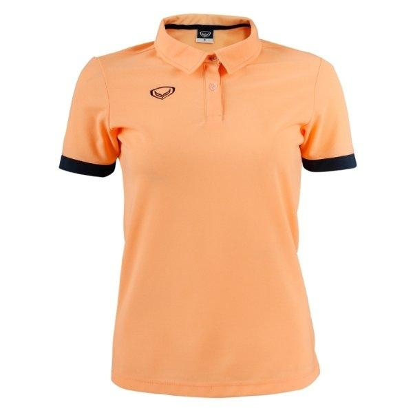 เสื้อโปโลหญิงแกรนด์สปอร์ต รหัส :012739 (สีส้ม)