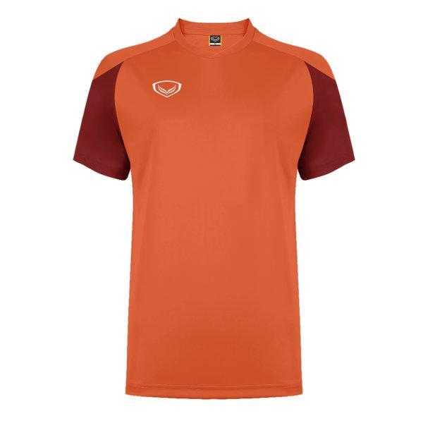แกรนด์สปอร์ต เสื้อกีฬาฟุตบอล ตัดต่อ รหัส: 011481 (สีส้ม)