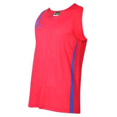 เสื้อวิ่งหญิงตัดต่อ (สีแดง) รหัส :017130
