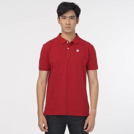 เสื้อโปโลแกรนด์สปอร์ตสีล้วน (สีแดง) รหัส :023162