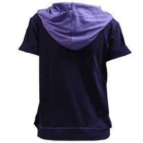 เสื้อคลุมแขนสั้นมีฮู้ด (สีม่วง) รหัส :028854