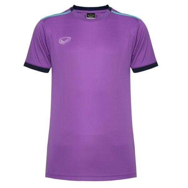 เสื้อกีฬาฟุตบอลตัดต่อ แกรนด์สปอร์ต  รหัสสินค้า : 011541 (สีม่วง)
