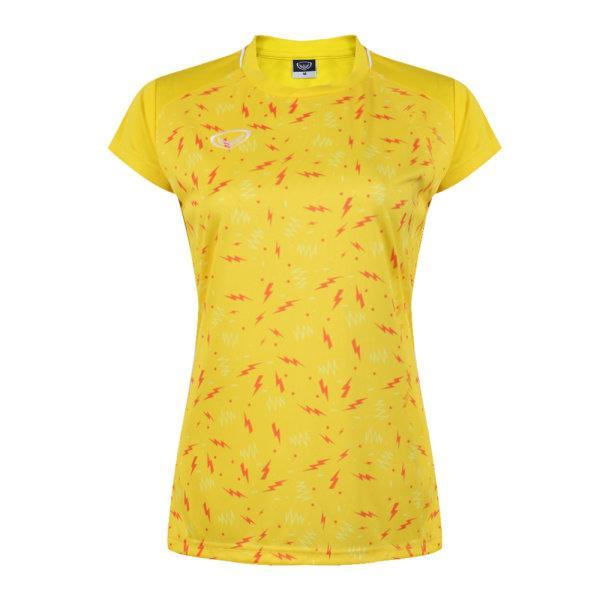 เสื้อกีฬาหญิงแกรนด์สปอร์ต(สีเหลือง)รหัส:014284