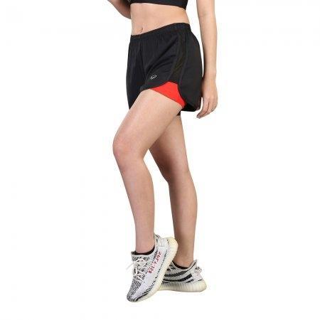 กางเกงขาสั้นมีซับใน(สีดำ) รหัส:028483