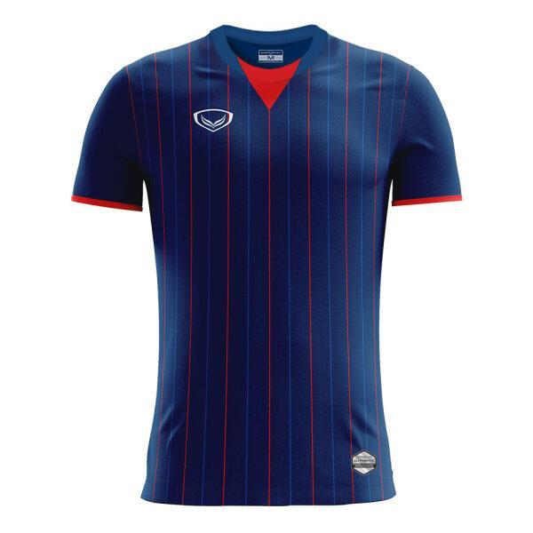 เสื้อกีฬาฟุตบอลพิมพ์ลาย แกรนด์สปอร์ต รหัสสินค้า:011545 (สีกรม)