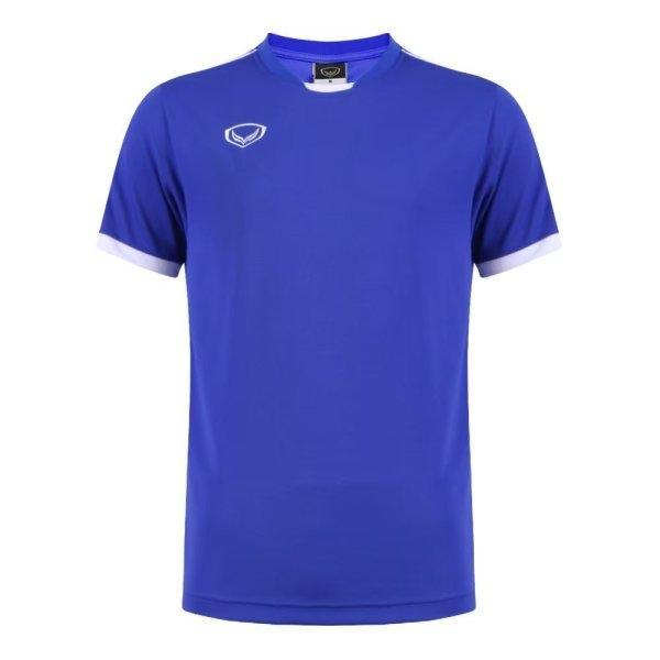 เสื้อกีฬาฟุตบอลตัดต่อ แกรนด์สปอร์ต รหัส : 011542 (สีน้ำเงิน)