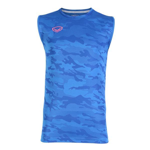 แกรนด์สปอร์ต เสื้อกีฬา Grand pro(แขนกุด) รหัส:038309 (สีน้ำเงิน)