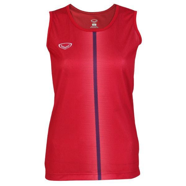 เสื้อวิ่งหญิงพิมพ์ลายด้านหน้า รหัส : 017147 (สีแดง)