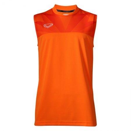 เสื้อฟุตบอลแกรนด์สปอร์ตพิมพ์ลาย แขนกุด(สีส้ม) รหัส:038239