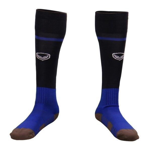 ถุงเท้ากีฬาฟุตบอลทอลาย แกรนด์สปอร์ต รหัส :025141 (สีกรม)