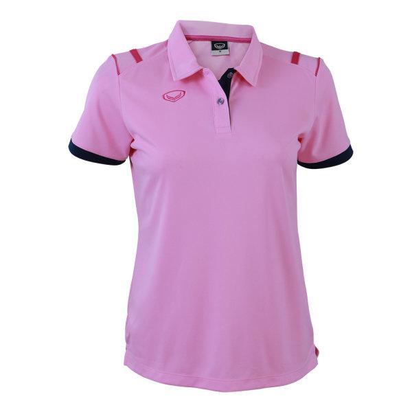 เสื้อโปโลหญิงแกรนด์สปอร์ต รหัส :012767 (สีชมพู)