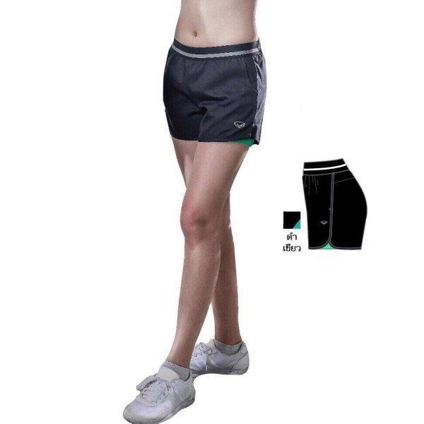 แกรนด์สปอร์ต กางเกงขาสั้นมีซับใน(สีดำเขียว) รหัส:028672