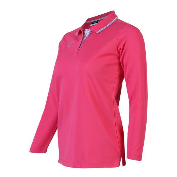เสื้อโปโลหญิงแขนยาวแกรนด์สปอร์ต (สีบานเย็น) รหัส:012779