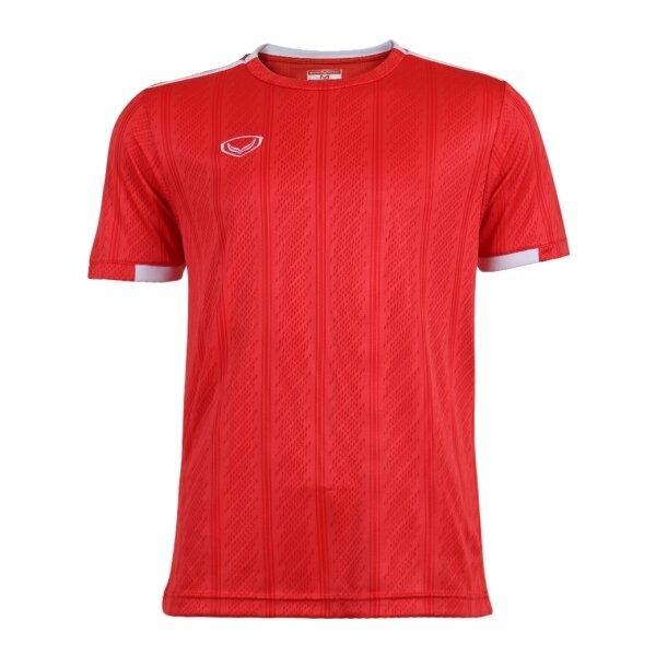 เสื้อกีฬาฟุตบอลทอลาย แกรนด์สปอร์ต รหัส : 011556 (สีแดง)
