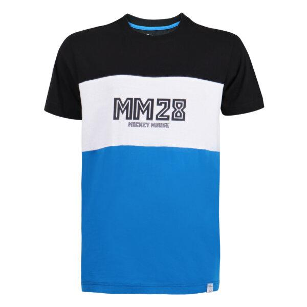 เสื้อคอกลมพิมพ์ลายมิกกี้ (MM28) รหัส : 621037(สีดำ-น้ำเงิน)