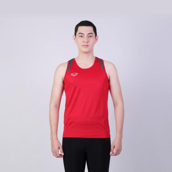 เสื้อกล้ามชายตัดต่อบ่า รหัสสินค้า : 017138 (สีแดง)