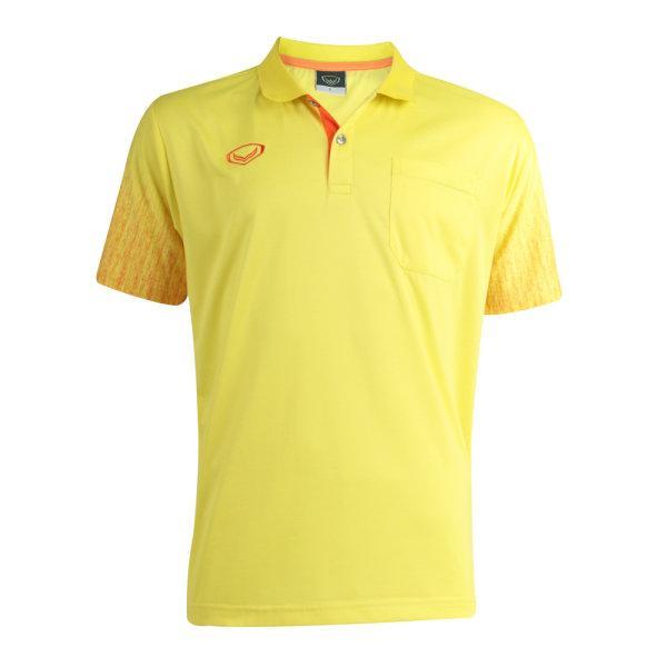 เสื้อโปโลชายสีเหลืองแกรนด์สปอร์ต(สีเหลือง) รหัส : 012563