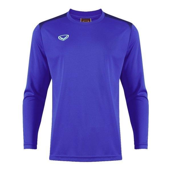 เสื้อกีฬาฟุตบอลแขนยาว แกรนด์สปอร์ต รหัส : 011475 (สีน้ำเงิน)