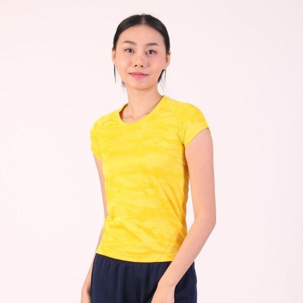 แกรนด์สปอร์ต เสื้อออกกำลังกายผู้หญิง (สีเหลือง) รหัสสินค้า : 028781