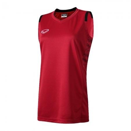เสื้อบาสเกตบอลแกรนด์สปอร์ตหญิง(สีแดง)รหัส:013157