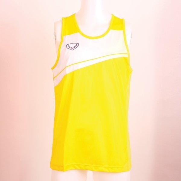 เสื้อกล้ามชายตัดต่อ รหัส : 017075 (สีเหลือง)