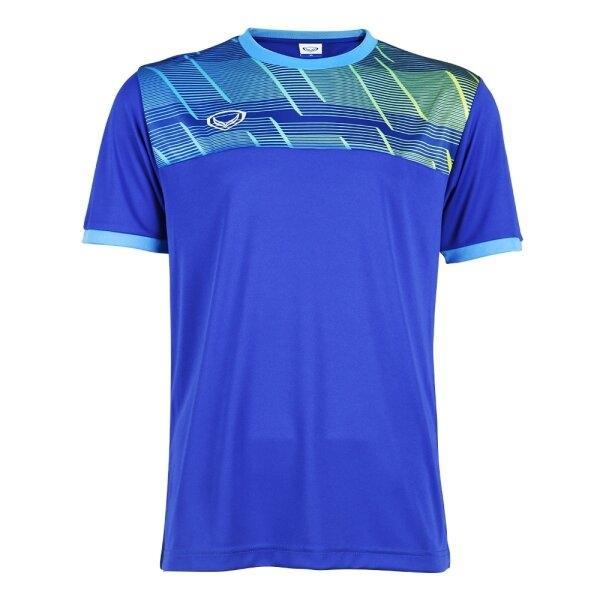 แกรนด์สปอร์ตเสื้อกีฬาฟุตบอลพิมพ์ลาย รหัส : 011553 (สีน้ำเงิน)