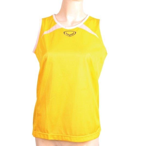 เสื้อกล้ามหญิงตัดต่อ รหัส : 017089 (สีเหลือง)