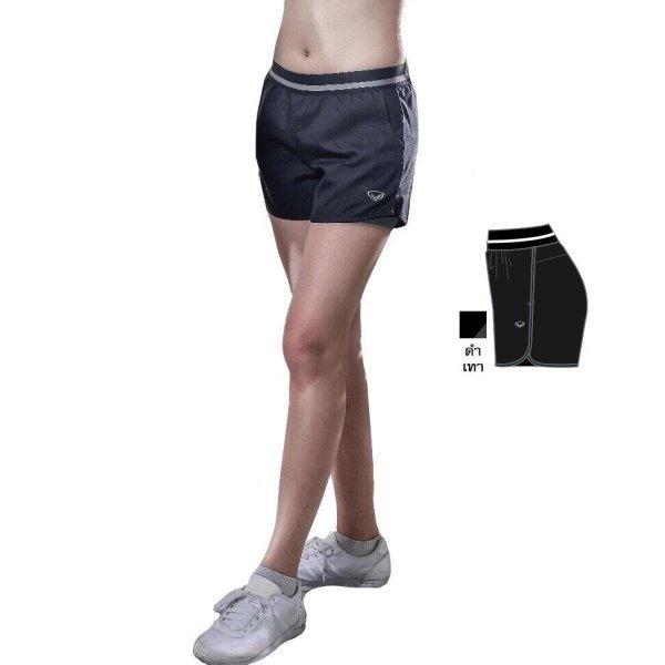 แกรนด์สปอร์ต กางเกงขาสั้นมีซับใน(สีดำเทา) รหัส:028672