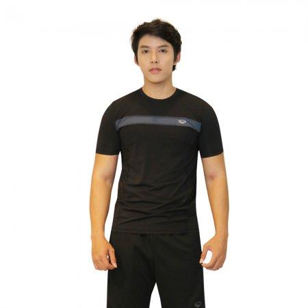 เสื้อแอโรบิกคอกลมชาย แกรนด์สปอร์ต(สีดำ) รหัส :028390