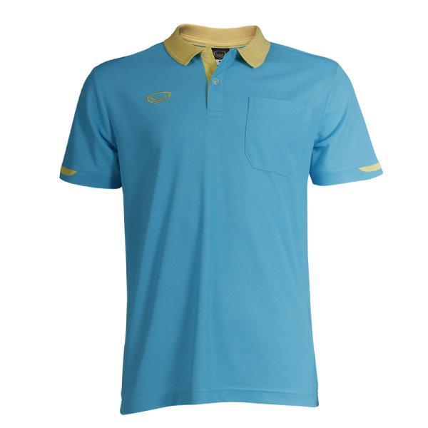 เสื้อโปโลชายสีม่วงแกรนด์สปอร์ต รหัส :012553 (สีฟ้า)