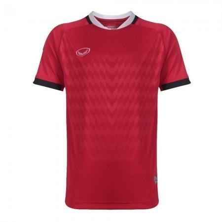 เสื้อฟุตบอล แกรนด์สปอร์ต(Emboss) สีแดง รหัส:011446