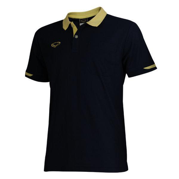 เสื้อโปโลชายสีม่วงแกรนด์สปอร์ต รหัส :012553 (สีกรม)