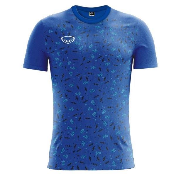 เสื้อกีฬาฟุตบอล แกรนด์สปอร์ต รหัส:011477 (สีน้ำเงิน)